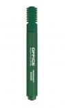 Marker permanentny OFFICE PRODUCTS, ścięty, 1-5mm (linia), zielony 12 sztuk