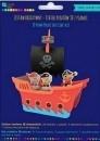 Zestaw kreatywny Statek piratów 3D z pianki .