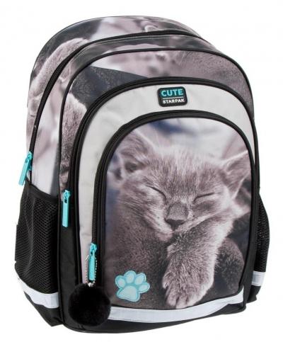 Plecak szkolny STK-14 Kitty Sepia