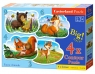 Puzzle konturowe 4w1 3-4-6-9 Forest Animals