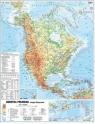 Ameryka PN 1:18 000 000 mapa pol.i fiz. ścienna praca zbiorowa