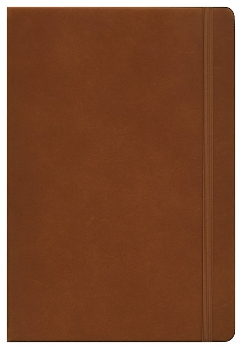Notes Medium Leuchtturm1917 w kratkę brązowy skórzany