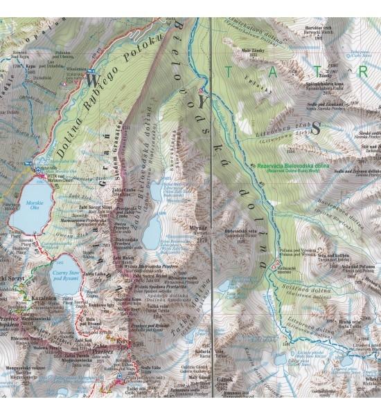Tatry Wysokie i Bielskie, 1:30 000 - mapa turystyczna