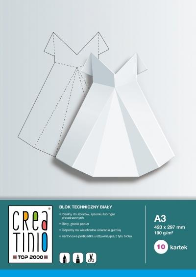Blok techniczny Creatinio A3/10k - biały (400079850)
