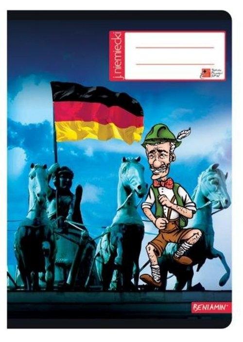 Zeszyt A5 Język niemiecki w kratkę 60 kartek