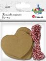 Zawieszki papierowe serca (412561)