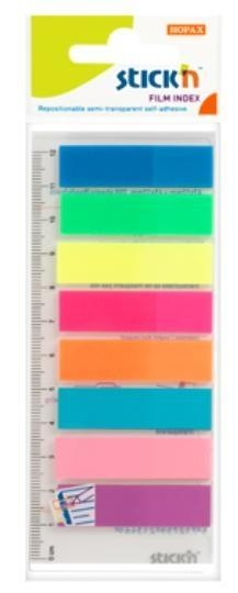 Zakładki indeks.samoprz.mix 5 kol.neon klas.z lin.