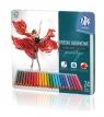 Kredki ołówkowe trójkątne Prestige 24 kolory