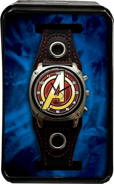 Zegarek analogowy w metalowym opakowaniu - Avengers (MV15788)
