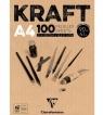 Blok brązowy A4/100k klejony KRAFT 90g