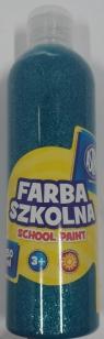 Farba szkolna Astra 250ml brokatowa turkusowa