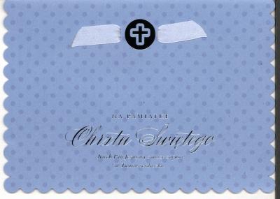 Karnet Chrzest Sw.niebieski HM-200-1465
