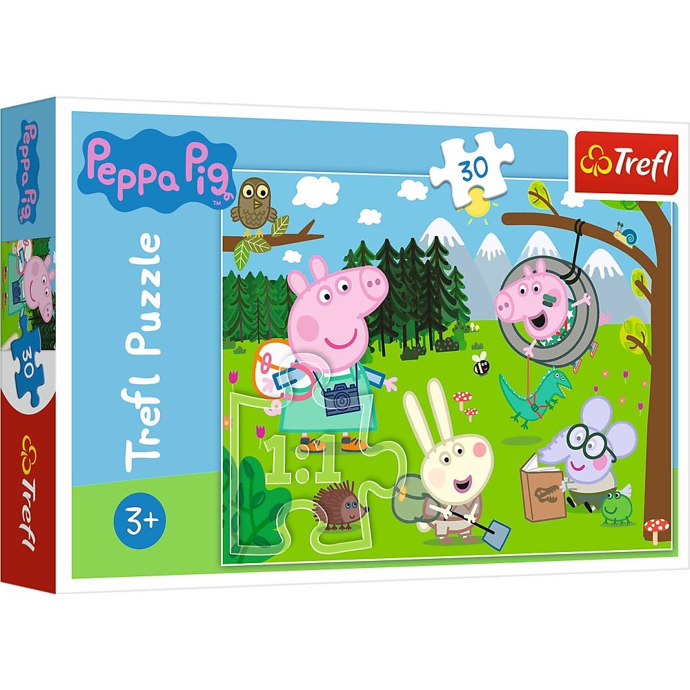 Puzzle 30: Świnka Peppa - Leśna wyprawa (18245)
