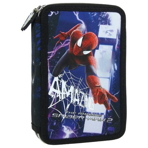 Piórnik dwukomorowy z wyposażeniem  Spider-Man 19