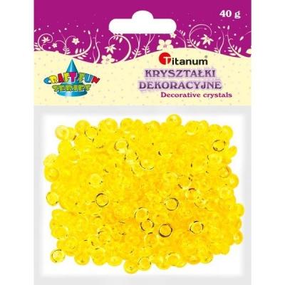 Kryształki plastikowe 40g. - pomarańczowy (363511)