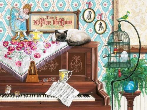 Puzzle 750: Kot na pianinie (16800)