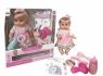 Mówiąca lalka Agusia w różowej sukience w paski z akcesoriami (02745)