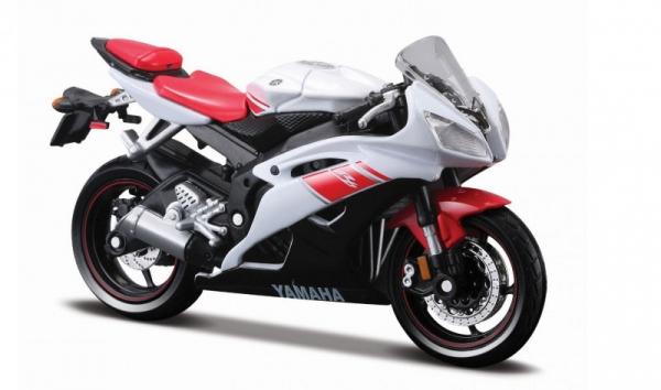 Model Motocykl Yamaha YZF-R6 z podstawką 1/18 (10139300/77245)