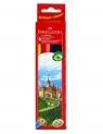 Kredki drewniane sześciokątne Zamek, 6 kolorów (120106)