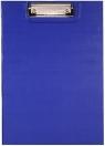 Deska A5 PVC z klipsem i okładką niebieska D.RECT