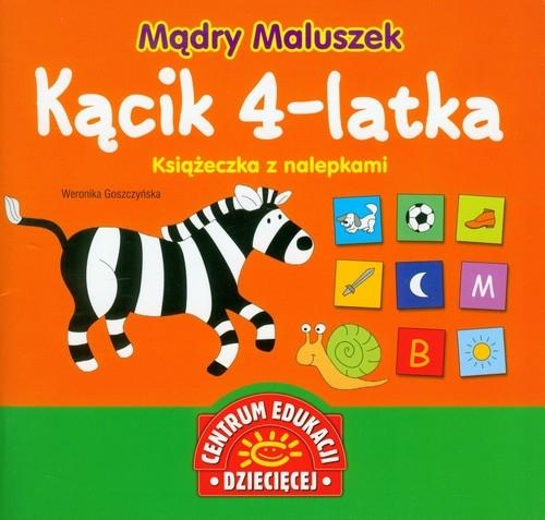 Mądry Maluszek Kącik 4-latka Książeczka z nalepkami Goszczyńska Weronika