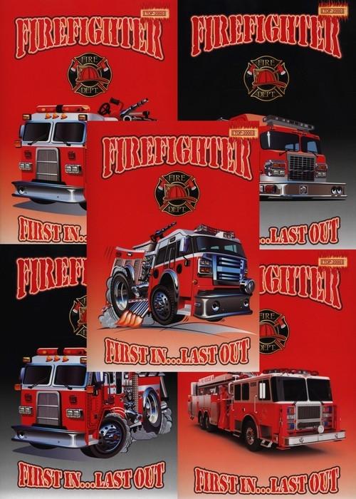 Zeszyt A5 Top-2000 w kratkę 32 kartki Firefighter mix
