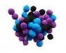 Zestaw Pomponów czarne, niebieskie, fioletowe 50