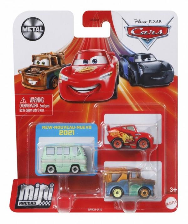 Pojazdy Auta 3-pak Zygzak McQueen, Złomek i Ogórek (GKG01/GRW24)