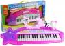 Keyboard organki różowe