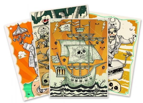 Zestaw artystyczny Piraci Zombie (DJ08645)
