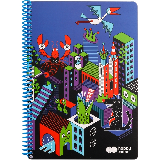 Kołobrulion Happy Color Me&City 2 B5/80k kratka (462886)