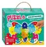 Puzzle dwustronne 26: Literki i cyferki. Motyl