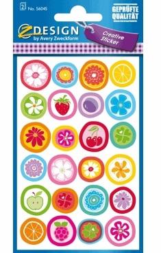 Naklejki papierowe - butony (56045)