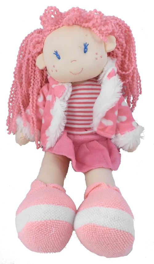 Lalka Laura 35 cm różowa (4445)