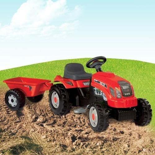 Traktor z przyczepką czerwony  (76000033045)