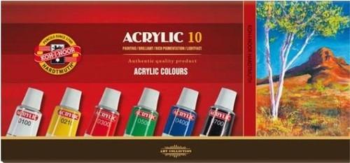 Farby acrylowe 10x16ml 10 kolorów