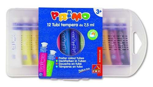 Farby plakatowe Primo Tempera w tubkach12 kolorów