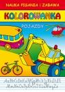 Pojazdy Nauka pisania i zabawa Kolorowanka