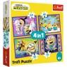 Puzzle 4w1: W świecie Minionków (34345)