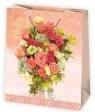 Torba ozdobna z motywem kwiatowym pakiet 10 szt mix
