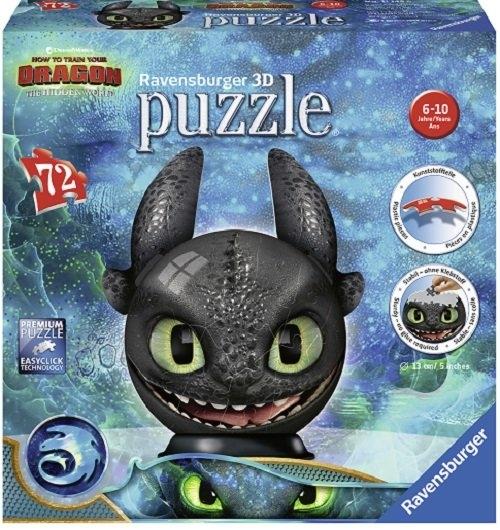 Jak wytresować smoka 3 Puzzle 3D Kula 72 (11 145 9)
