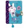 Pamiętnik z kłódką pluszak, 96 kartek - Sweet Bunny Blue