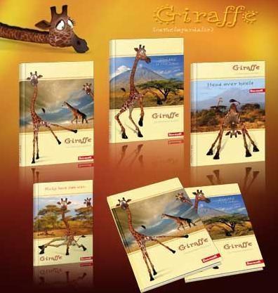 Zeszyt A5/96K/BR kratka 5 szt. Giraffe