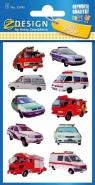 Naklejki 3D dla dzieci - samochody ratownicze (53745)