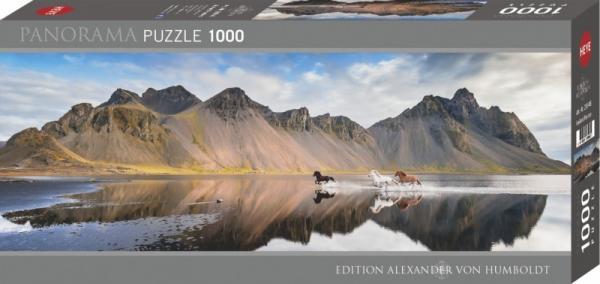 Puzzle 1000 elementów Islandia - Dzikie konie (29946)