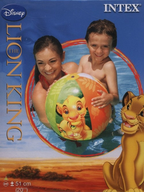Piłka plażowa Król Lew 51 cm