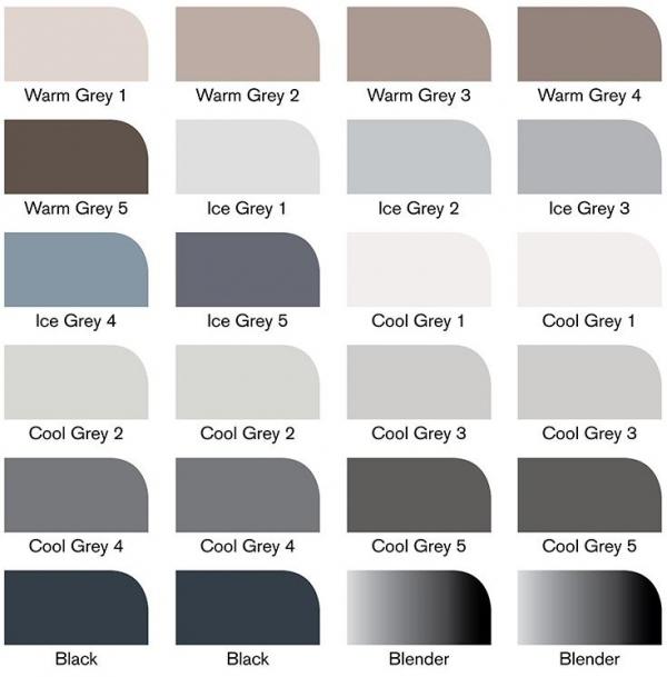 Zestaw pisaków Promarker Winsor & Newton - Grey and Black Tones, 24 kolory (17560230C)