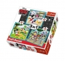 Puzzle 3w1 Myszka Miki z przyjaciółmi