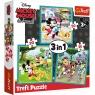 Puzzle 3w1: Myszka Miki z przyjaciółmi (34846) Wiek: 3+