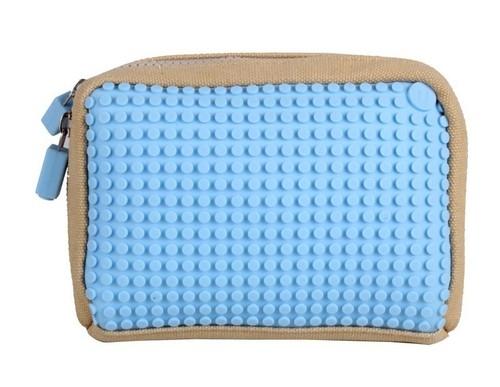 Kosmetyczka Pixelbags beżowo-błękitna